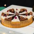 Szivárvány karácsonyi torta - Kerek