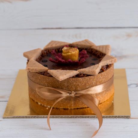 Gesztenye csoki mini kerek torta