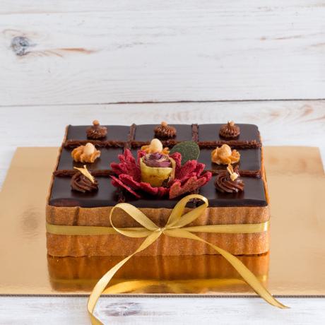 Szivárvány torta - kocka 3x3