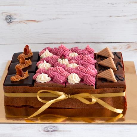Szivárvány torta - kocka 3x4
